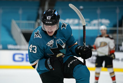 Sharks beat Ducks 3-2 for 2nd regulation win of season