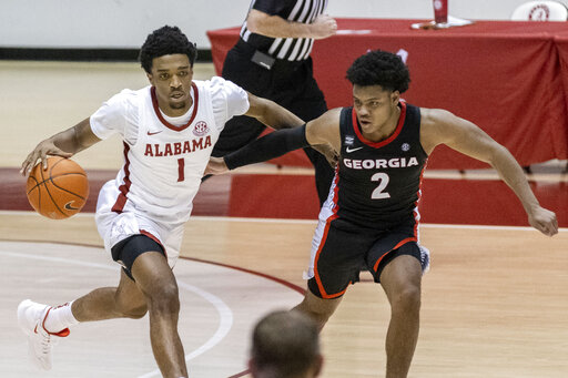 Jones, No. 11 Alabama blow out Georgia, 115-82