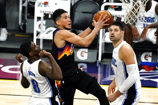 Booker, Suns roll to 6th straight win, beating Magic 109-90
