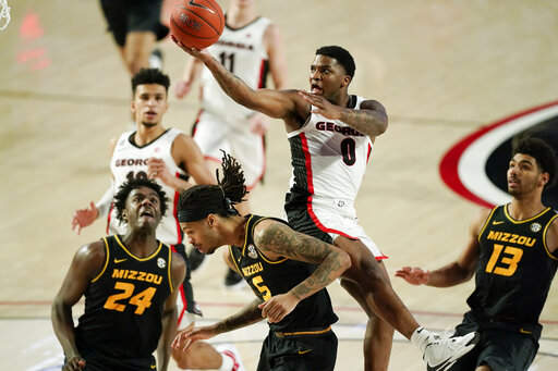 Camara helps Georgia rally to beat No. 20 Missouri 80-70