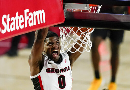 Camara rallies Georgia over No. 20 Missouri 80-70