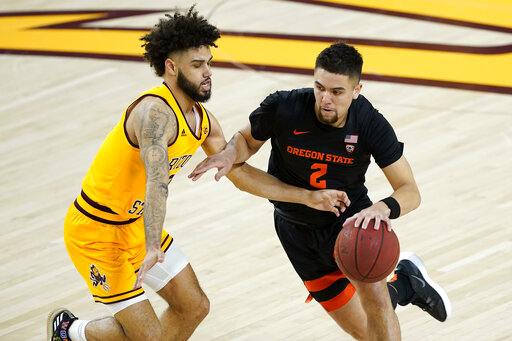 Arizona St. survives frantic finish in win over Oregon St.