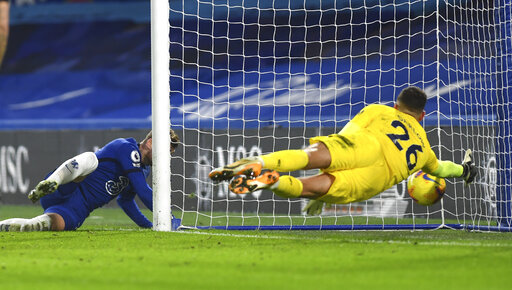 Werner ends EPL goal drought as Chelsea beats Newcastle 2-0