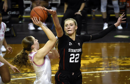 Williams, No. 6 Stanford hold off No. 13 Oregon 63-61