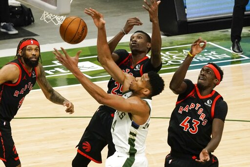 Raptors beat Bucks 124-113 despite losing Lowry to injury