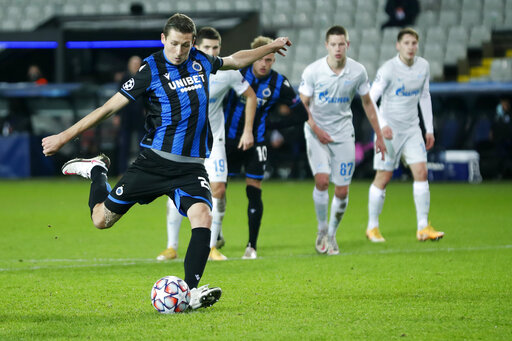 Club Brugge hit by virus cases ahead of Europa League match