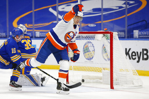 Islanders beat Sabres 3-1 in Buffalo's 1st game in 2 weeks