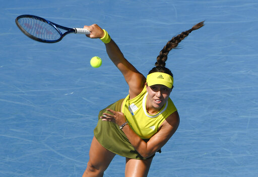 The Latest: Buffalo's Pegula into 1st Slam QF at Australian