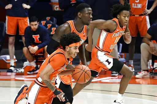 Cockburn, Dosunmu lead No. 5 Illini past Northwestern 73-66
