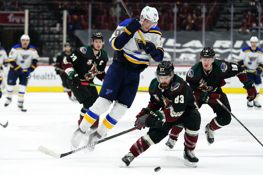 Coyotes close out 7-game series with 1-0 win over Blues