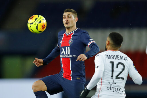 PSG midfielder Verratti available against Barcelona