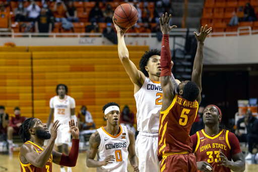 Cunningham, Oklahoma State hand Iowa St. 11th straight loss