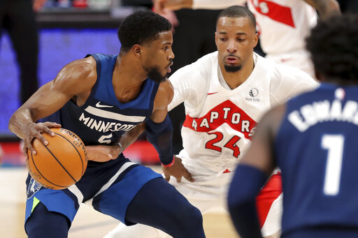 Timberwolves end 4-game losing streak with win over Raptors