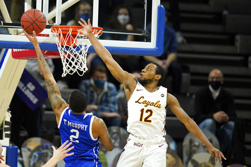 Drake rallies to beat No. 22 Loyola Chicago in OT, 51-50